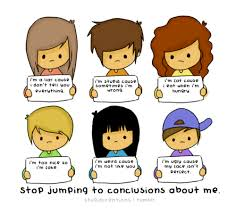 Jumping To Conclusions Quotes Interesting Stop Jumping To Conclusions About Me Collection Of Inspiring