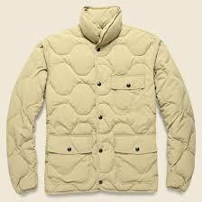 Quilted Down Jacket - Khaki &  Adamdwight.com