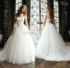 discount classic style a line tulle wedding dress with sexy