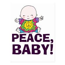 baby postcard cute hippie hippy tie dye peace baby postcard zazzle com