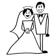 Disegno Di Matrimonio Da Colorare Per Bambini