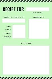 Recipe Form Templates Template Preschool Cookbook Printable Yahoo Image Search Results