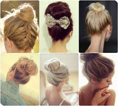 easy and fashion high bun for meeting night with straight hair extensions clip on