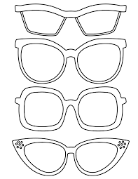 coloring pages 03 print cut and glasses templates pictures to pin on pinterest on frame outline template
