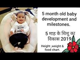 5 Month Old Baby Development In Hindi With