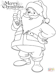 Promising Santa Claus Printables Funny Coloring Page Free