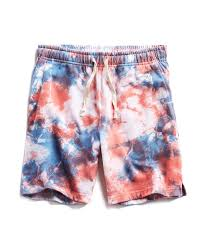 Tie Dye Designs For Shorts Red Tie Dye Warm Up Short