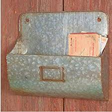 Galvanized Magazine Holder