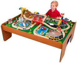 kidkraft metropolis train table 100pc train set kids play toy fun wood frame kid
