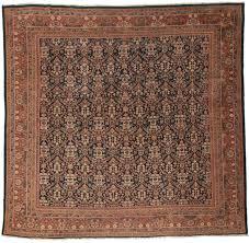 antique square persian mahal 11x12 wool oriental rug 7569