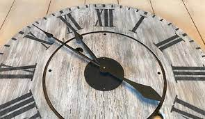 oversized rustic farmhouse wall clock