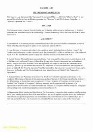 Promissory Note Sample Template New Secured Promissory Note Template Best Templates 22