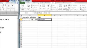 how to solve polynomial equations in excel by goal seek method