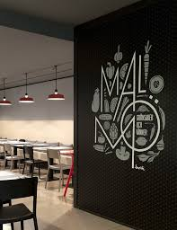 Small Picture Wall graphics at Malm restaurant Sweden by Borja Garcia Studio