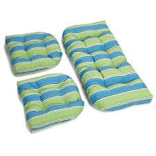 Wicker Settee Cushion Sets 3 Piece Outdoor Settee Cushion