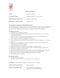 case manager resume sample  resume template