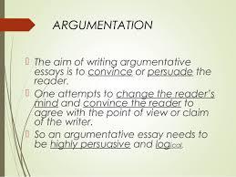 argumentative essay class vii argumentation
