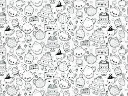 Cute Kawaii Animal Coloring Pages For Adult Sheets Girl Colouring