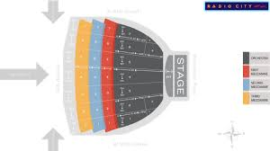 Radio City Music Hall New York Seating Chart Radio City Music Hall Seat Map Msg Official Site