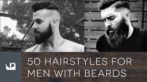 Beard And Hair Style 50 hairstyles for men with beards youtube 8526 by stevesalt.us