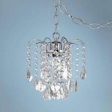 plug in swag dining room super cool plug in crystal chandelier chandeliers home furniture lighting mini