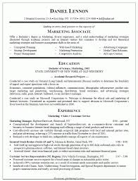 Special Marketing Graduate Resume Resume Sample For Marketing