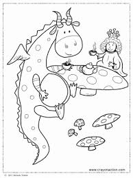 Small Picture Dragon Tea Party Coloring Page Crayon Action Coloring Pages