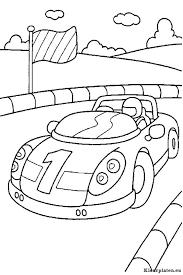Race Auto Op Circuit Kleurplaat