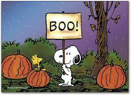 Snoopy's Boo Halloween Postcard   SmartPractice Eye Care