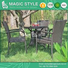 china hot rattan dining chair wicker round table stackable patio chair outdoor dining set magic style china outdoor furniture garden furniture