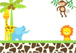 Jungle Theme Birthday Invitations Safari Party Invitations Invitation Cards