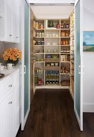 sliding doors can hide your food pantry and make it easy to access