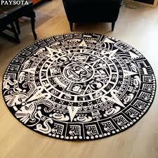 black and white round rug totem black white round rug entrance tea table sofa large carpet black and white round rug