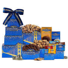 wine country gift baskets ghirardelli chocolate gift tower