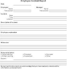 Free Incident Report Template Register Site And Injury