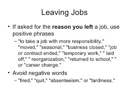 A Good Reason For Leaving A Job How To Explain Your Reasons For Leaving A Job