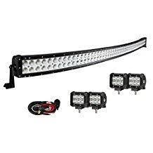 amazon ca accent off road lighting automotive led neon enk 52 inch curved led light bar 300w 4 pcs of 4 inch led pods