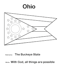 Usa Printables Ohio State Flag State Of Ohio Coloring Pages