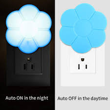 Non Plug In Night Light Gbell Us Plug In Auto Light Sensor Led Wall Night Light For Girls Kids Room Kawaii Kids Aults Flower Light Control Nightlights Lamp For Bedrooms
