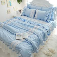 light blue ruffle duvet cover set 25 off