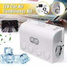12V/24V duvara monte invertör klima hava nem alıcısı hava soğutma fanı  klima soğutucu oto araba için karavan kamyon|Air-conditioning Installation