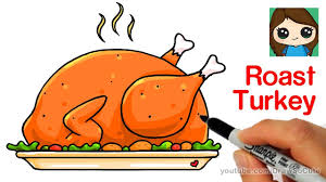 cooked ham drawing. Wonderful Ham How To Draw A Roast Turkey Dinner Easy  Realistic To Cooked Ham Drawing