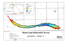 Wizard Lake Depth Chart Wizard Lake Bathymetric Chart