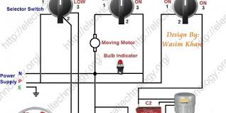 room air cooler wiring diagram 2 (with capacitor marking and Capacitor Motor Wiring room air cooler wiring diagram 2 (with capacitor marking and installation) electrical technology capacitor motor wiring diagram
