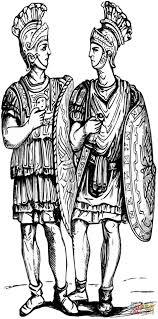 Roman Soldier Coloring Page Soldiers Free Printable Pages Hoofardus