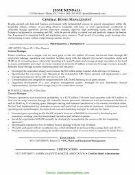 Cover Letter Great Hotel General Manager Resume Hotel Manager Resume