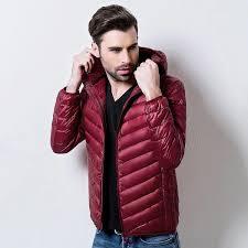 winter coat men ultra light down jacket men feather warm jackets with a hood outdoors winter