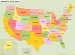USA States Map | List of U.S. States