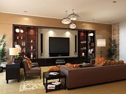 Wall Units For Living Room Design Living Room Luxurious Wall Unit Design With Trio Ceiling Lights