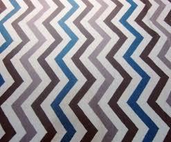 blue and grey chevron rug